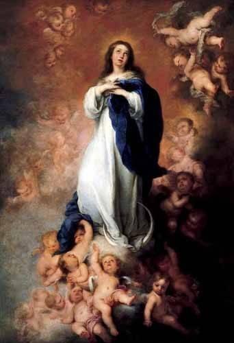 tableaux-religieuses - Tableau -Inmaculada Concepcióon de Soult- - Murillo, Bartolome Esteban
