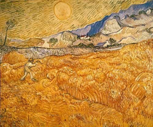 tableaux-de-paysages - Tableau -Le moissonneur- - Van Gogh, Vincent