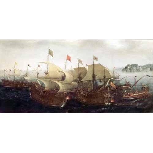 pinturas de paisagens marinhas - Quadro -Batalla Naval-
