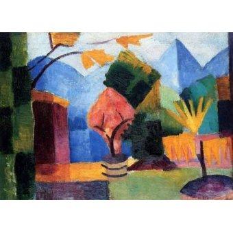 Tableaux abstraits - Tableau -Jardin en Lago Thuner- - Macke, August