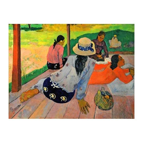 pinturas do retrato - Quadro -La siesta-