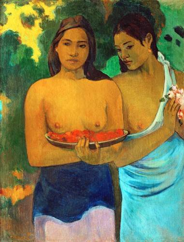 tableaux-de-personnages - Tableau -Señoras tahitianas II- - Gauguin, Paul