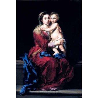 Tableaux religieuses - Tableau -La Virgen del Rosario- - Murillo, Bartolome Esteban