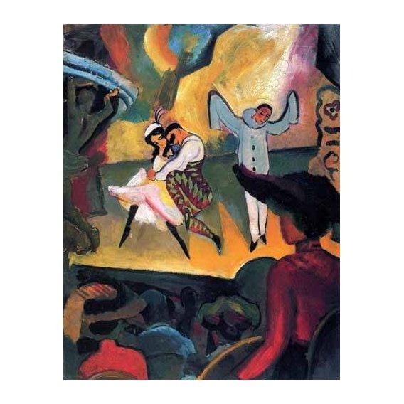 pinturas do retrato - Quadro -Ballet ruso-