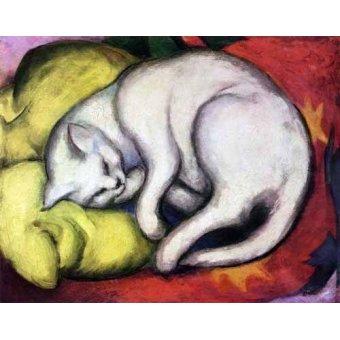 Tableaux de faune - Tableau -Tomcat sobre cojin amarillo- - Marc, Franz