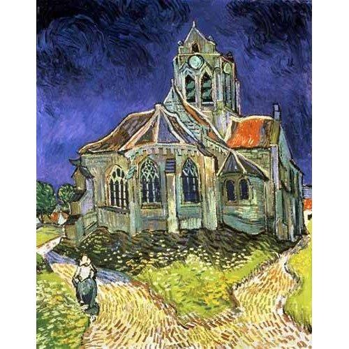 Tableau -L'église d'Auvers-sur-Oise-