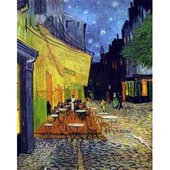 Tableau -Terrasse de café sur la place du Forum, Arles -