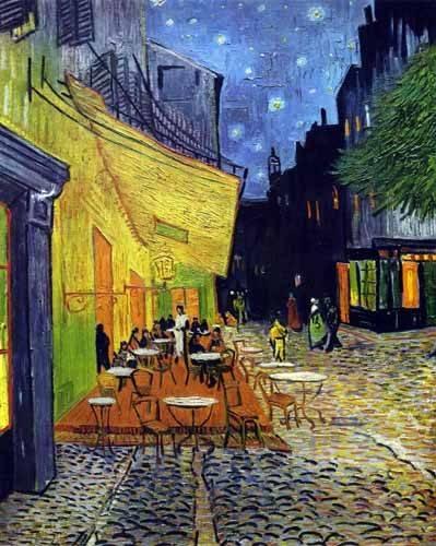 tableaux-de-paysages - Tableau -Terrasse de café sur la place du Forum, Arles - - Van Gogh, Vincent