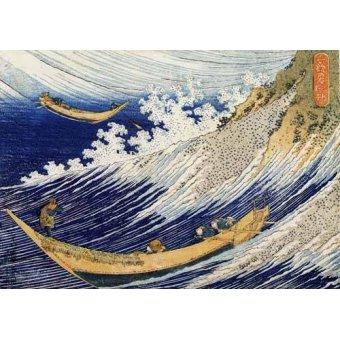 Tableaux orientales - Tableau -Vagues dans l'océan- - Hokusai, Katsushika