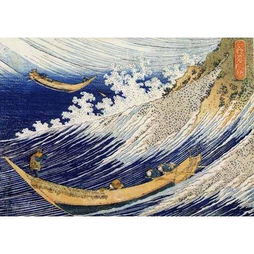 imagens étnicas e leste - Quadro -Olas en el oceano-