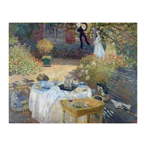 pinturas de paisagens - Quadro -Desayuno en el jardin de Monet-