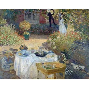 - Tableau -Le Déjeuner : panneau décoratif, vers 1874- - Monet, Claude