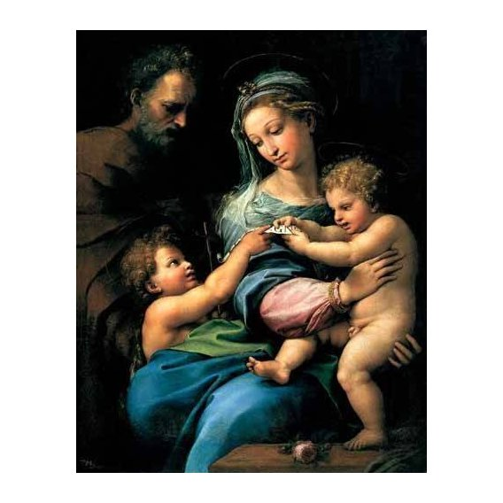 imagens religiosas - Quadro -La Virgen de la Rosa-