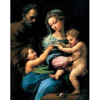 Tableaux religieuses - Tableau -La Virgen de la Rosa- - Raphaël, Sanzio da Urbino Raffael