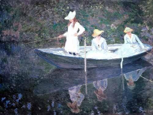 tableaux-de-personnages - Tableau -En norvégienne- - Monet, Claude