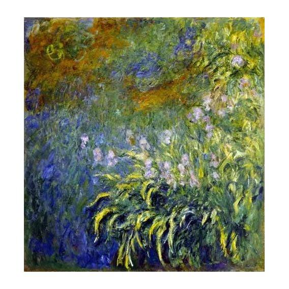 imagens de flores - Quadro -Lirios junto al estanque-