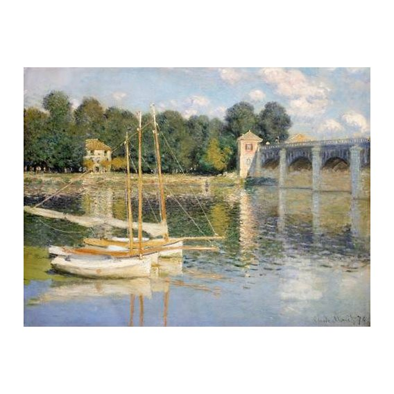pinturas de paisagens - Quadro -Puente de Argenteuil-