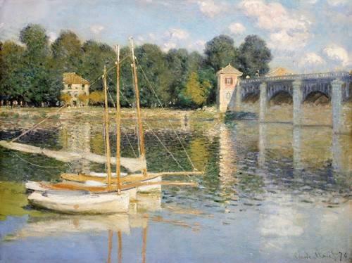 tableaux-de-paysages - Tableau -Le pont d'Argenteuil, 1874- - Monet, Claude