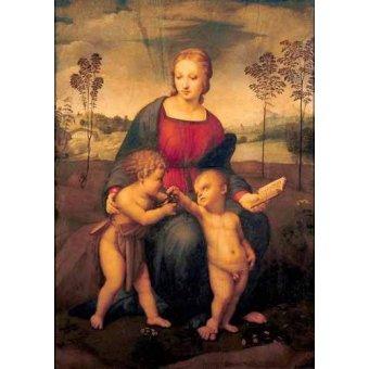 Tableaux religieuses - Tableau -La Virgen del Jilguero- - Raphaël, Sanzio da Urbino Raffael