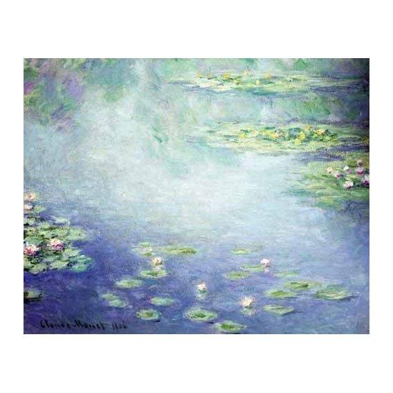 pinturas de paisagens - Quadro -Nenúfares-