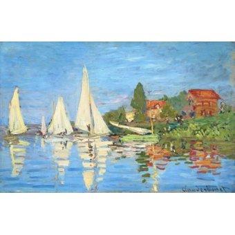 - Tableau -Régates à Argenteuil- - Monet, Claude