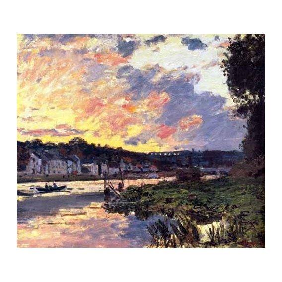 pinturas de paisagens - Quadro -El Sena en Bougival, en la tarde-