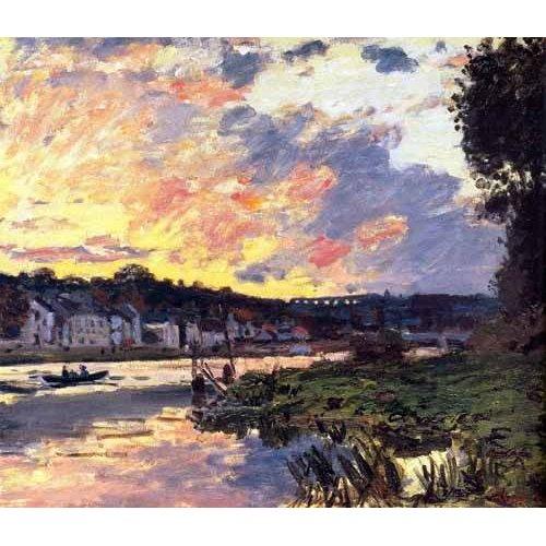 Tableau -La Seine à Bougival le soir-