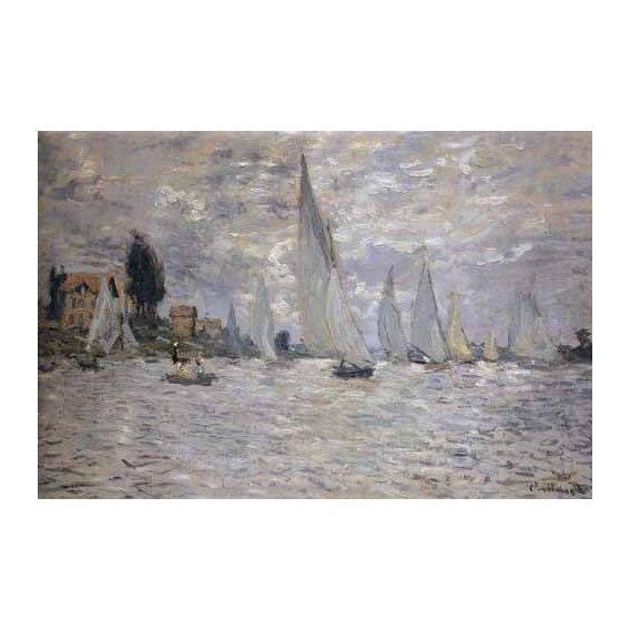 pinturas de paisagens marinhas - Quadro -Regatas en Argenteuil-