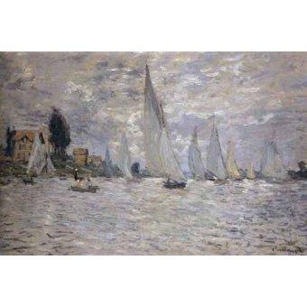 Tableaux de paysages marins - Tableau -Les barques. Régates à Argenteuil- - Monet, Claude