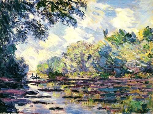tableaux-de-paysages - Tableau -La Seine, près de Giverny- - Monet, Claude