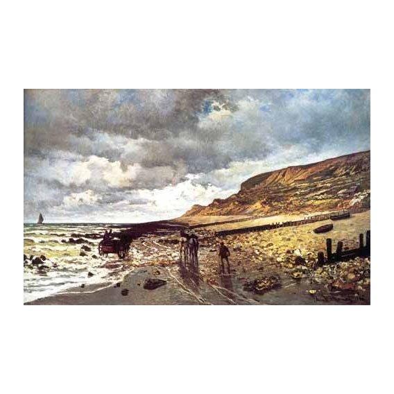 pinturas de paisagens marinhas - Quadro -El Cabo de Heve con marea baja-