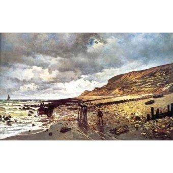 Tableaux de paysages marins - Tableau -Le Cap de la Hève à marée basse- - Monet, Claude