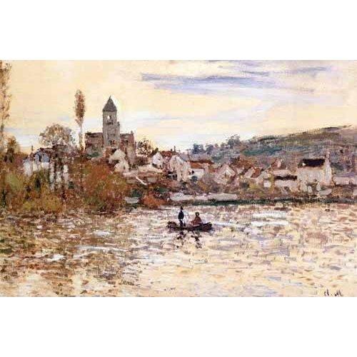 pinturas de paisagens - Quadro -El Sena en Vetheuil-