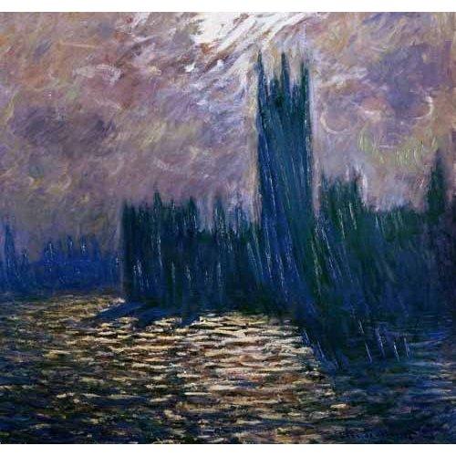 Tableau -Parlement de Londres, effets sur la Tamise, 1905-
