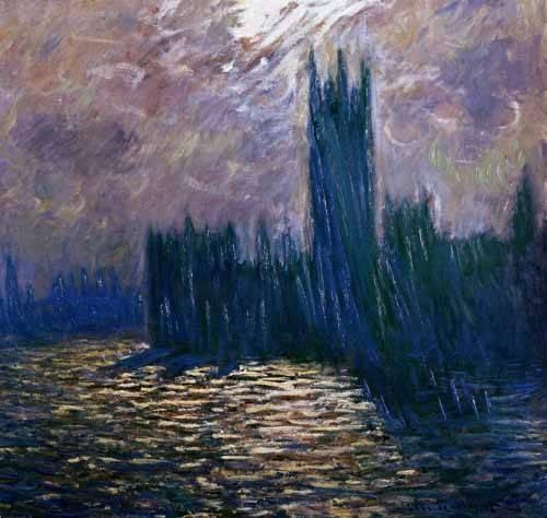 tableaux-de-paysages - Tableau -Parlement de Londres, effets sur la Tamise, 1905- - Monet, Claude
