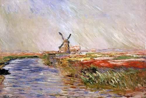 tableaux-de-paysages - Tableau -Champs de tulipes en Hollande- - Monet, Claude