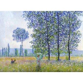 - Tableau -Sous les peupliers, effet de soleil 1887- - Monet, Claude