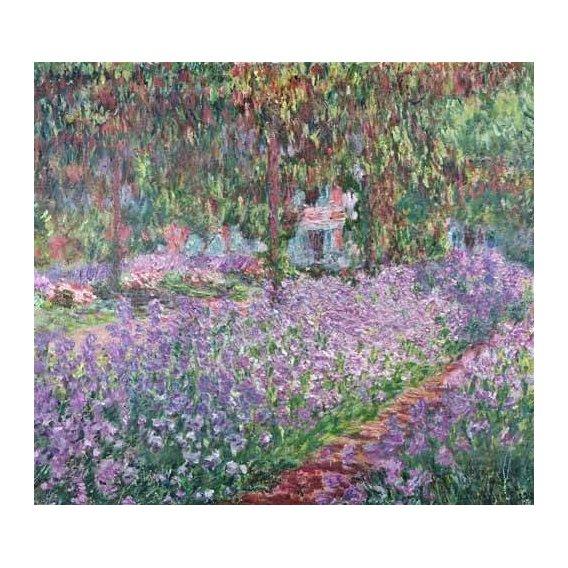 pinturas de paisagens - Quadro -El jardin del artista en Giverny-