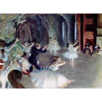 Tableau -La répétition du ballet sur scène-