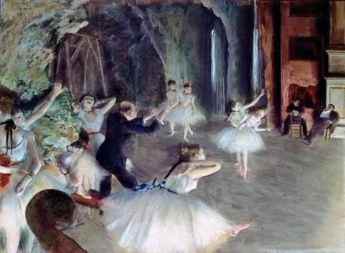 tableaux-de-personnages - Tableau -La répétition du ballet sur scène- - Degas, Edgar