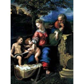Tableaux religieuses - Tableau -La Sagrada Familia del Roble- - Raphaël, Sanzio da Urbino Raffael