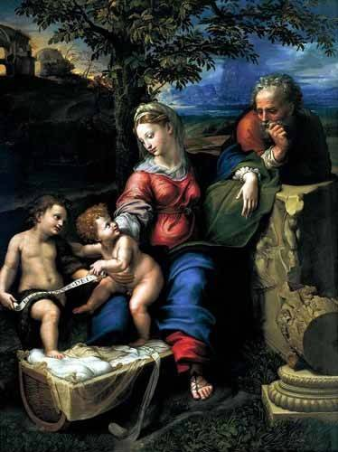 tableaux-religieuses - Tableau -La Sagrada Familia del Roble- - Raphaël, Sanzio da Urbino Raffael