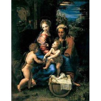 Tableaux religieuses - Tableau -La Sagrada Familia de la Perla- - Raphaël, Sanzio da Urbino Raffael