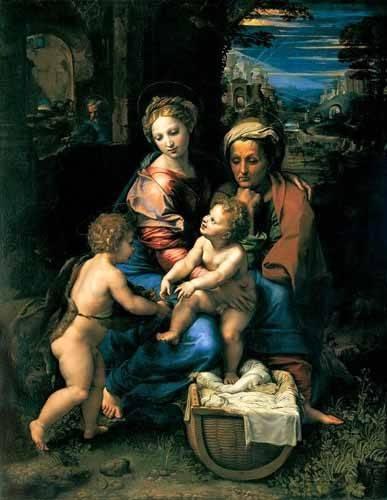 tableaux-religieuses - Tableau -La Sagrada Familia de la Perla- - Raphaël, Sanzio da Urbino Raffael
