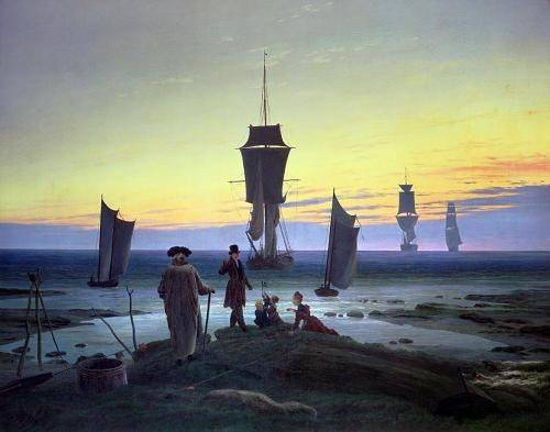 tableaux-de-paysages-marins - Tableau -The Stages of Life, 1835- - Friedrich, Caspar David