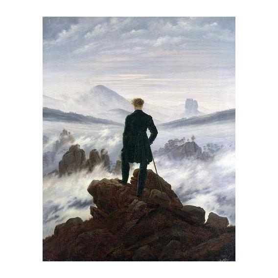 pinturas de paisagens - Quadro -The Wanderer above the Sea of Fog, 1818-