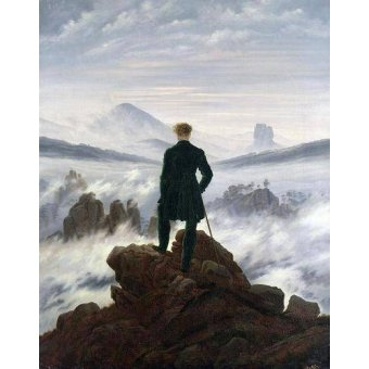 - Tableau -Le Voyageur contemplant une mer de nuages, 1818- - Friedrich, Caspar David