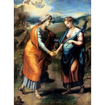 Tableaux religieuses - Tableau -La Visitación- - Raphaël, Sanzio da Urbino Raffael