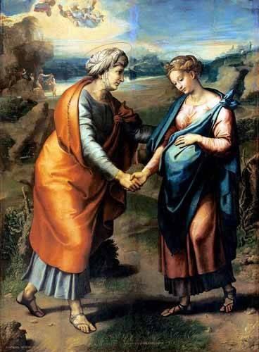 tableaux-religieuses - Tableau -La Visitación- - Raphaël, Sanzio da Urbino Raffael