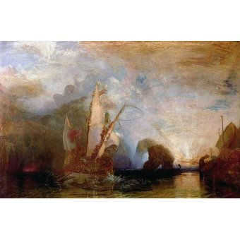 Tableaux de paysages marins - Tableau -Ulisses Deriding Polyphemus, 1829- - Turner, Joseph M. William